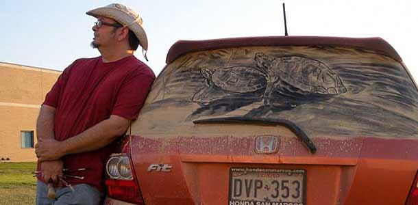 Scott Wade - картины на грязных автомобилях