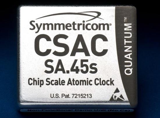 Чип SA.45s от Symmetricom с капсулой с цезием-133