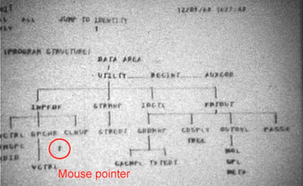 Почему курсор мыши наклонён на 45°