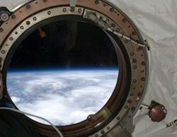 Вид из иллюминатора космического корабля