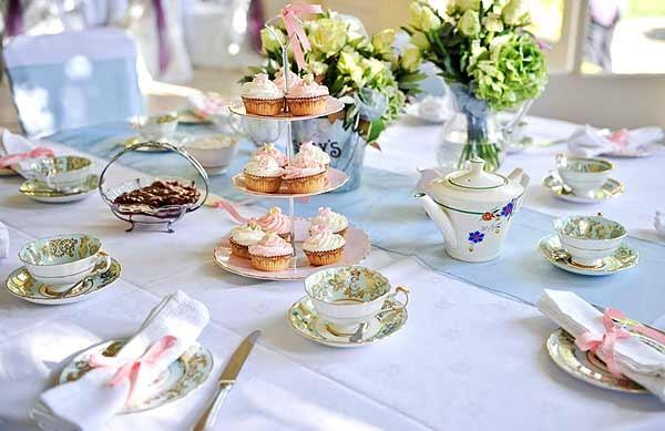 Сервировка стола (ужин, чай, сладкое)