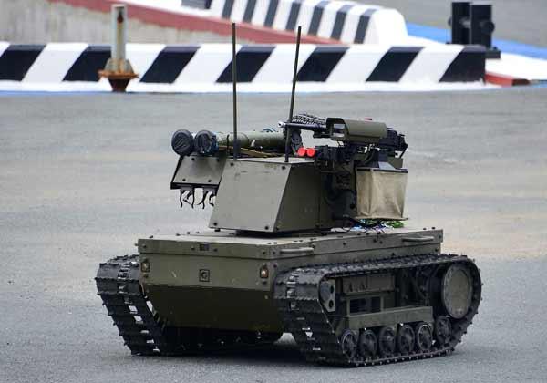 Боевой робот ''Платформа-М''