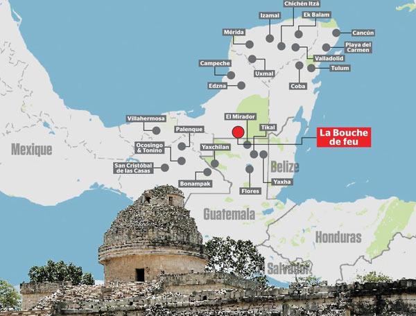 Затерянный город майя найден в джунглях на юго-востоке Мексики, недалеко от границы с Гватемалой