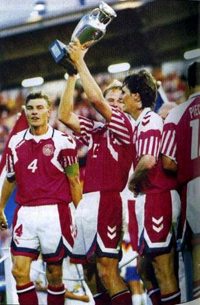 Сборная Дании чемпион - чемпионат Европы 1992 года