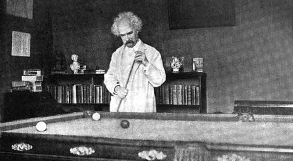 Марк Твен и биллиард