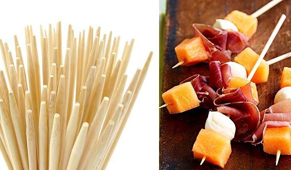 Шпажки для еды из китайских деревянных палочек
