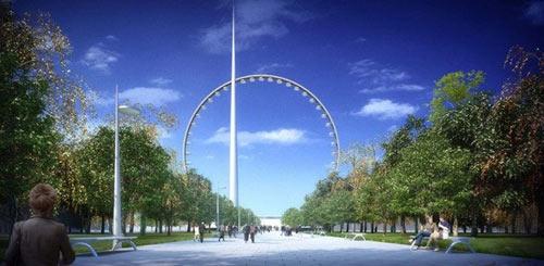 Супер колесо обозрения в Москве